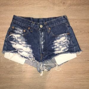 Distressed Levi's Denim Shorts (price negotiable)